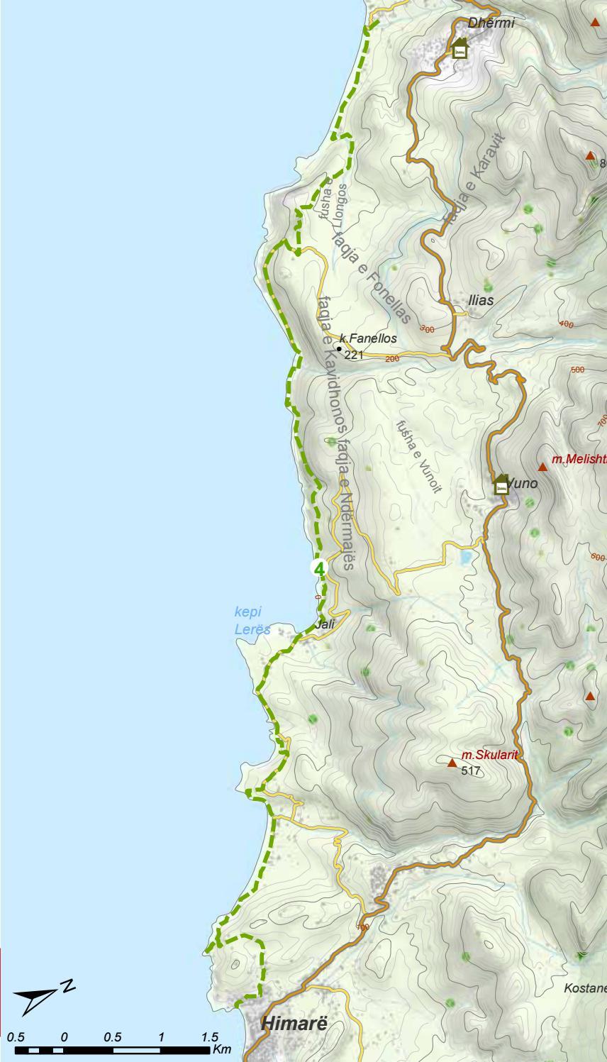 Hiking Trails in Himara Region page 45