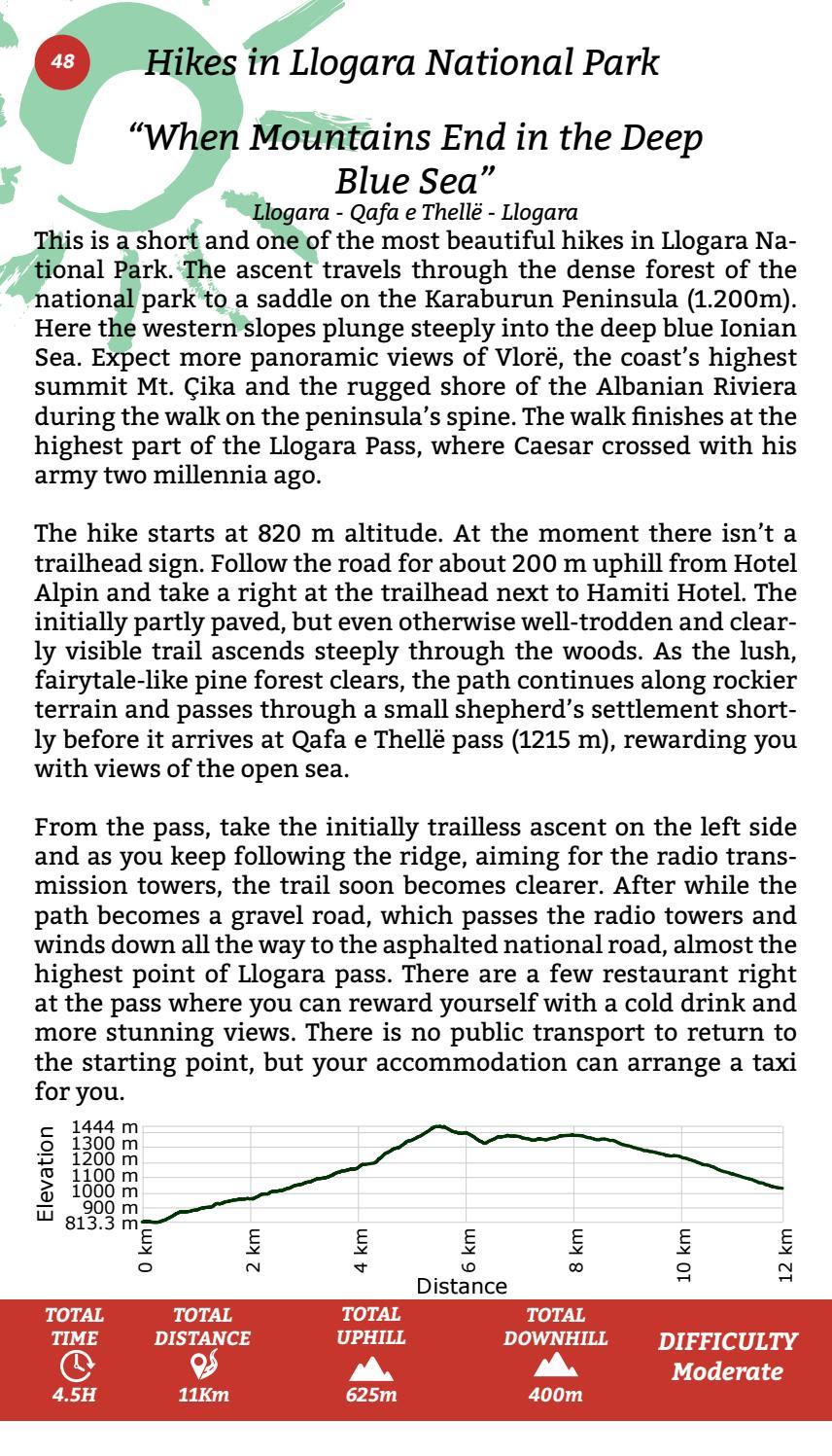 Hiking Trails in Himara Region page 48