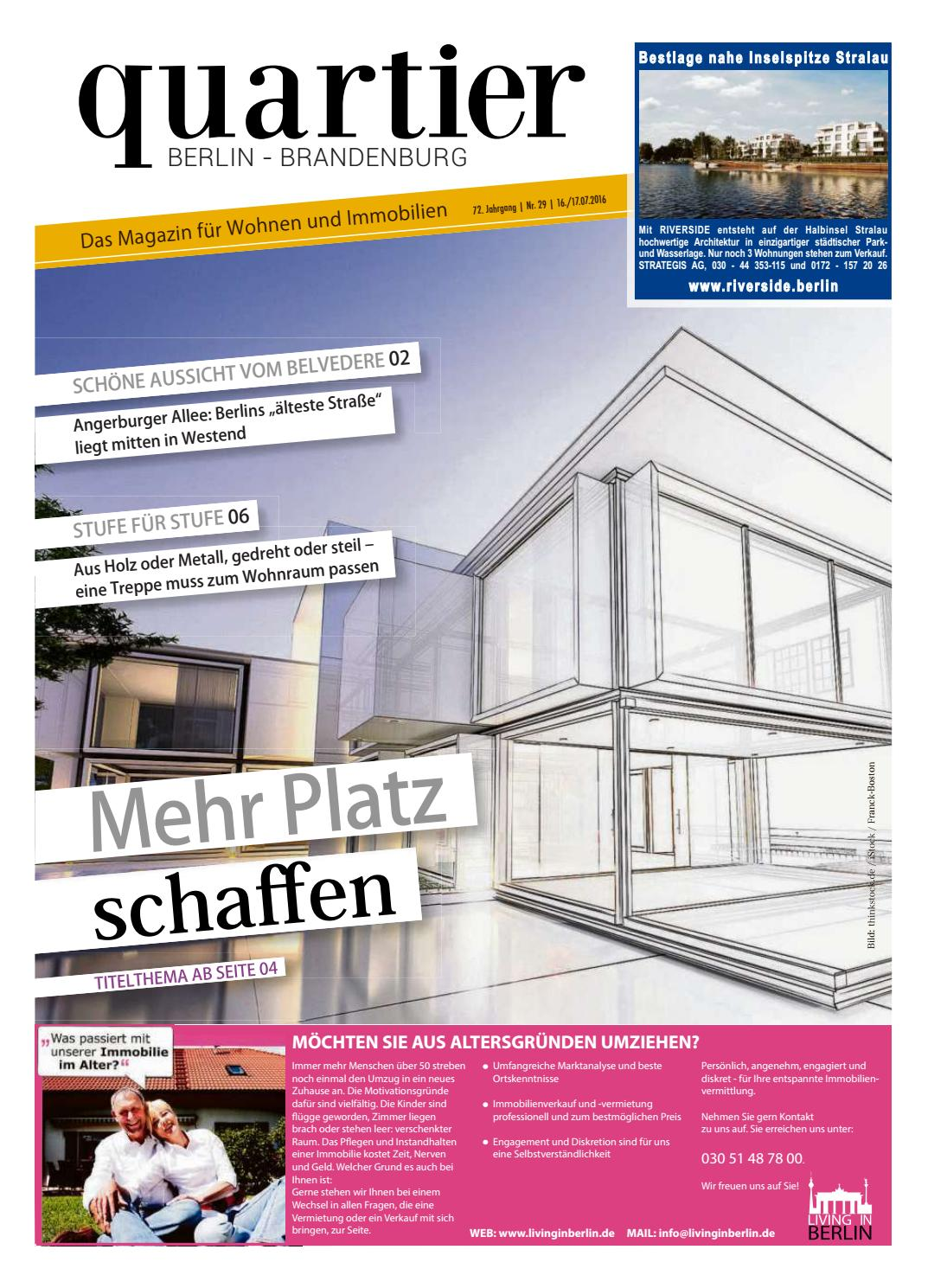 quartier mehr platz schaffen by berlin medien gmbh issuu. Black Bedroom Furniture Sets. Home Design Ideas