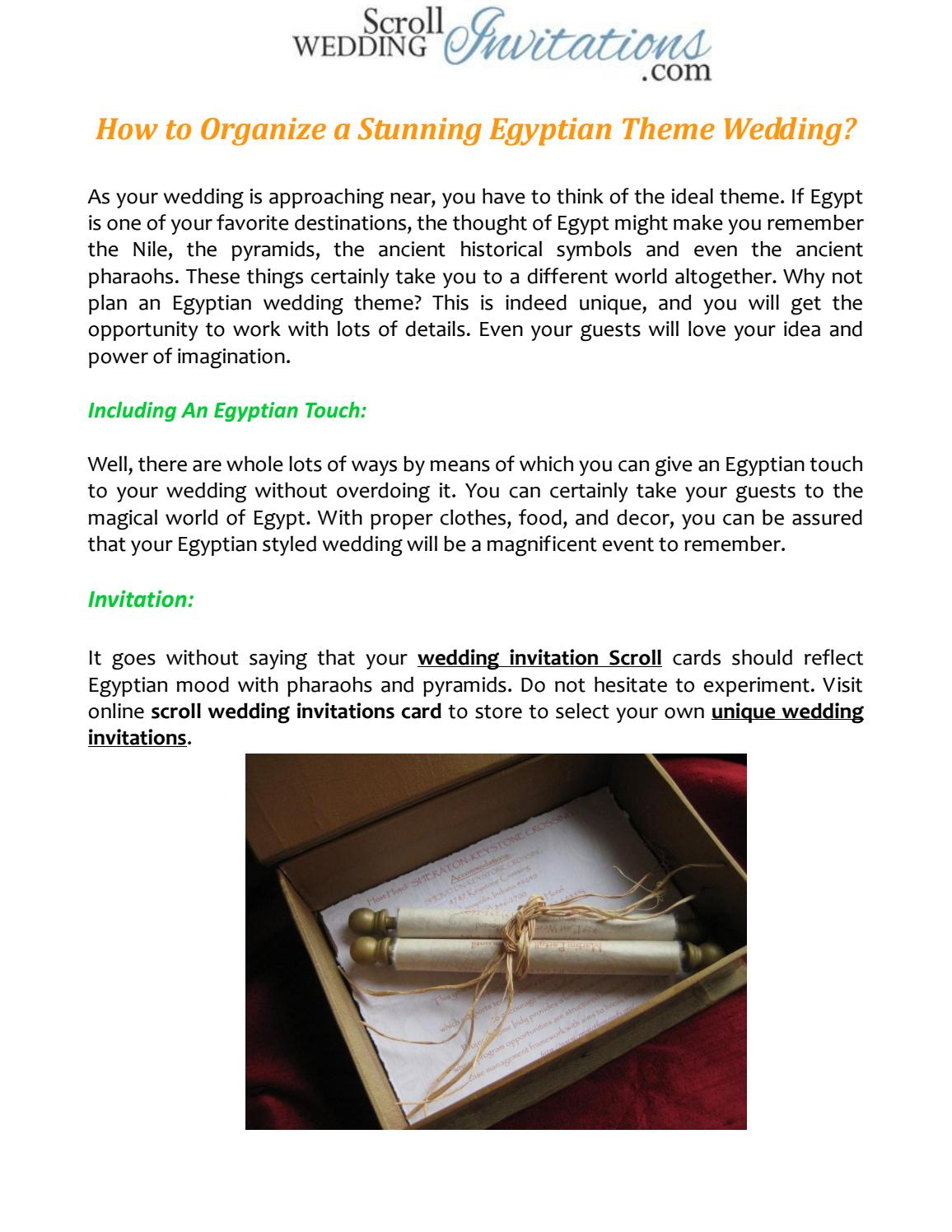 How to Organize a Stunning Egyptian Theme Wedding by Scroll Wedding ...