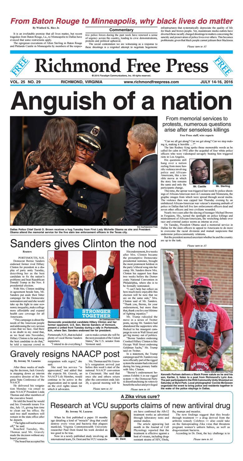 967fdcf66 July 14 16, 2016 issue by Richmond Free Press - issuu
