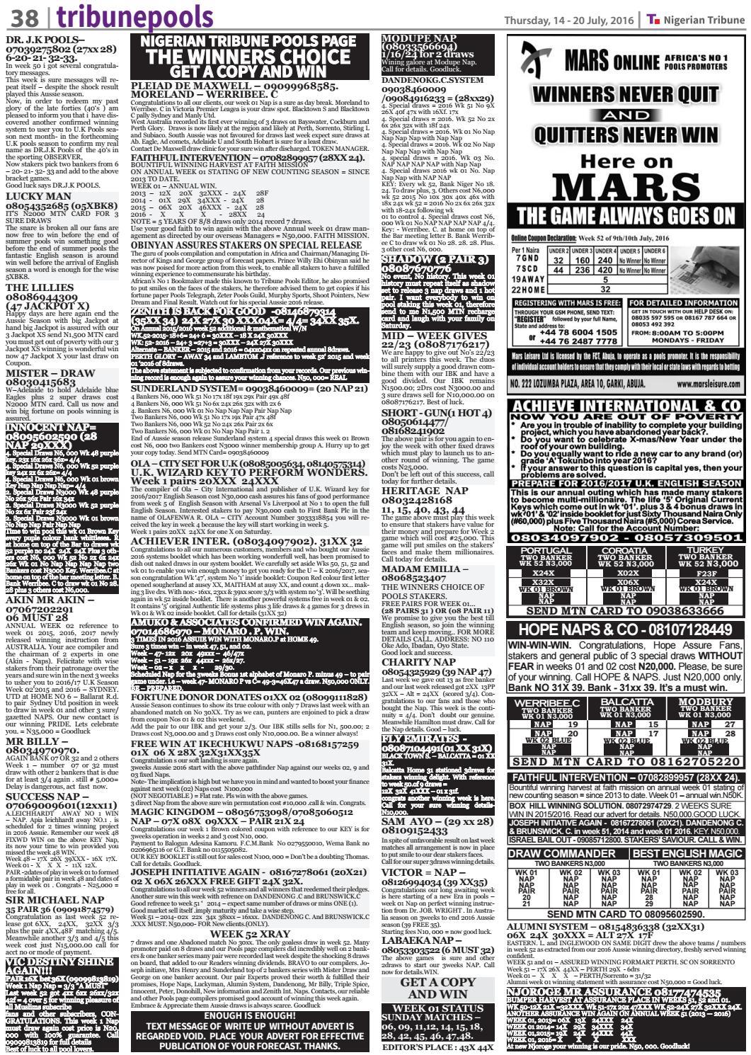 14th July 2016 by Nigerian Tribune - issuu