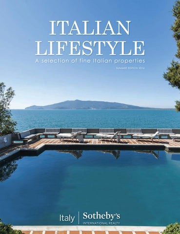 Italian Lifestyle Summer Edition 2016 By Italy Sothebyu0027s ...