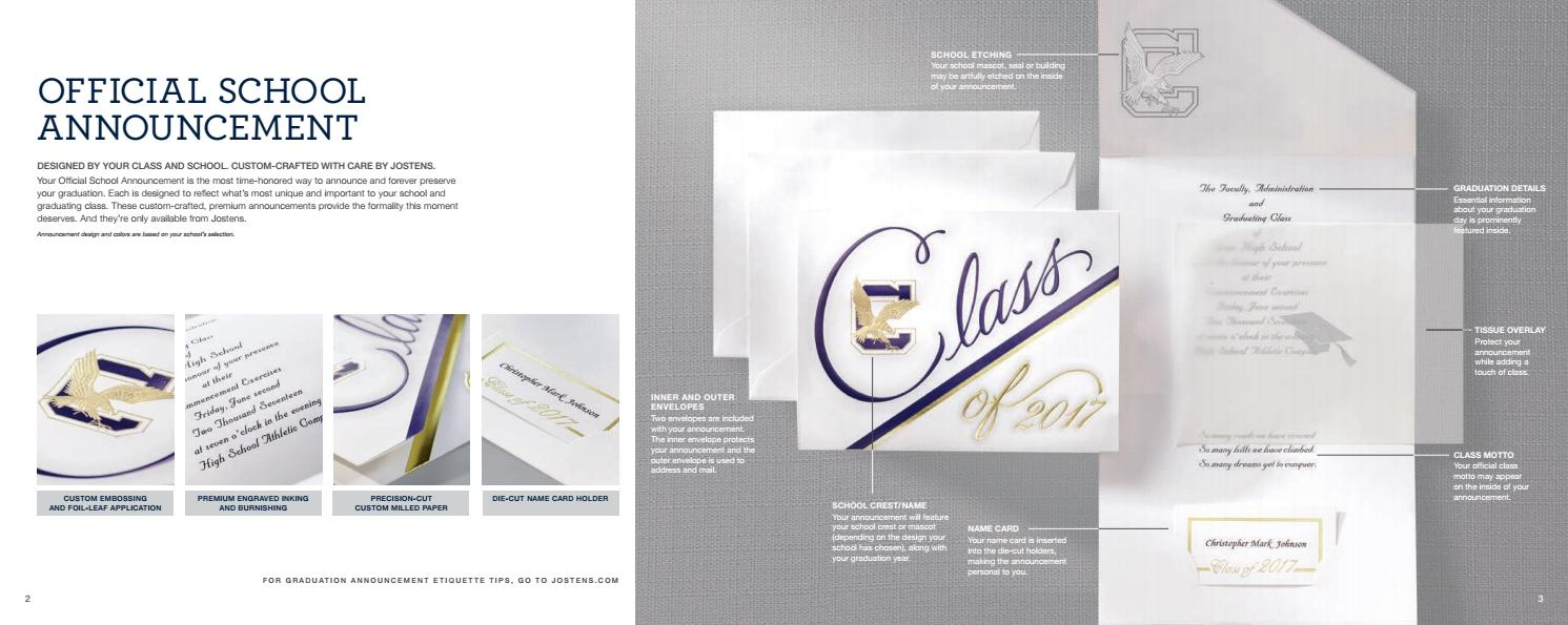 high school graduation products catalog by jostens