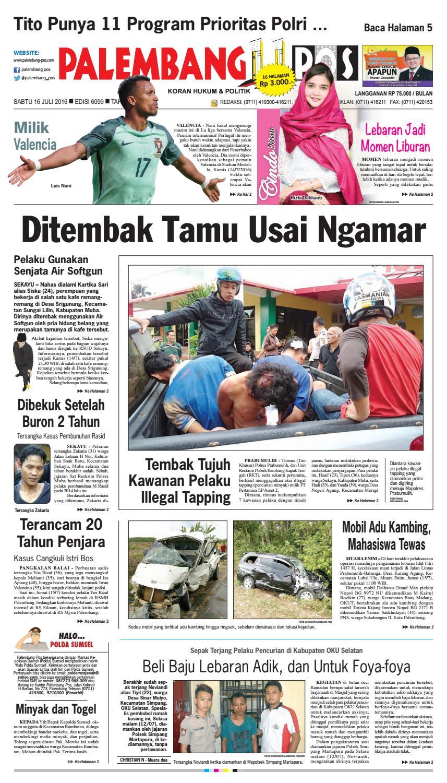 Palembang Pos Edisi Sabtu 15 Juli 2016 By Palembang Pos Issuu