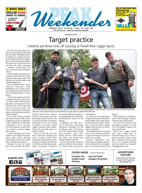 d3a6d9517a54 Peak Weekender VOL 21 Issue 38 by Powell River Peak - issuu