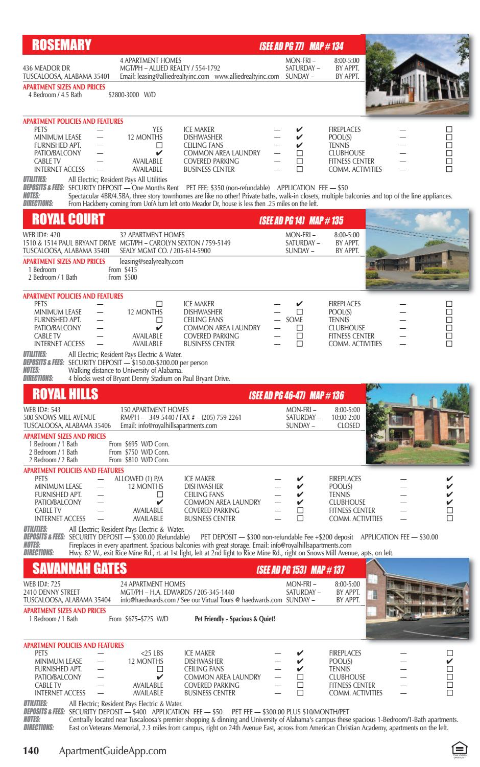 Tuscaloosa Apartment Guide By Jim Andrews   Issuu
