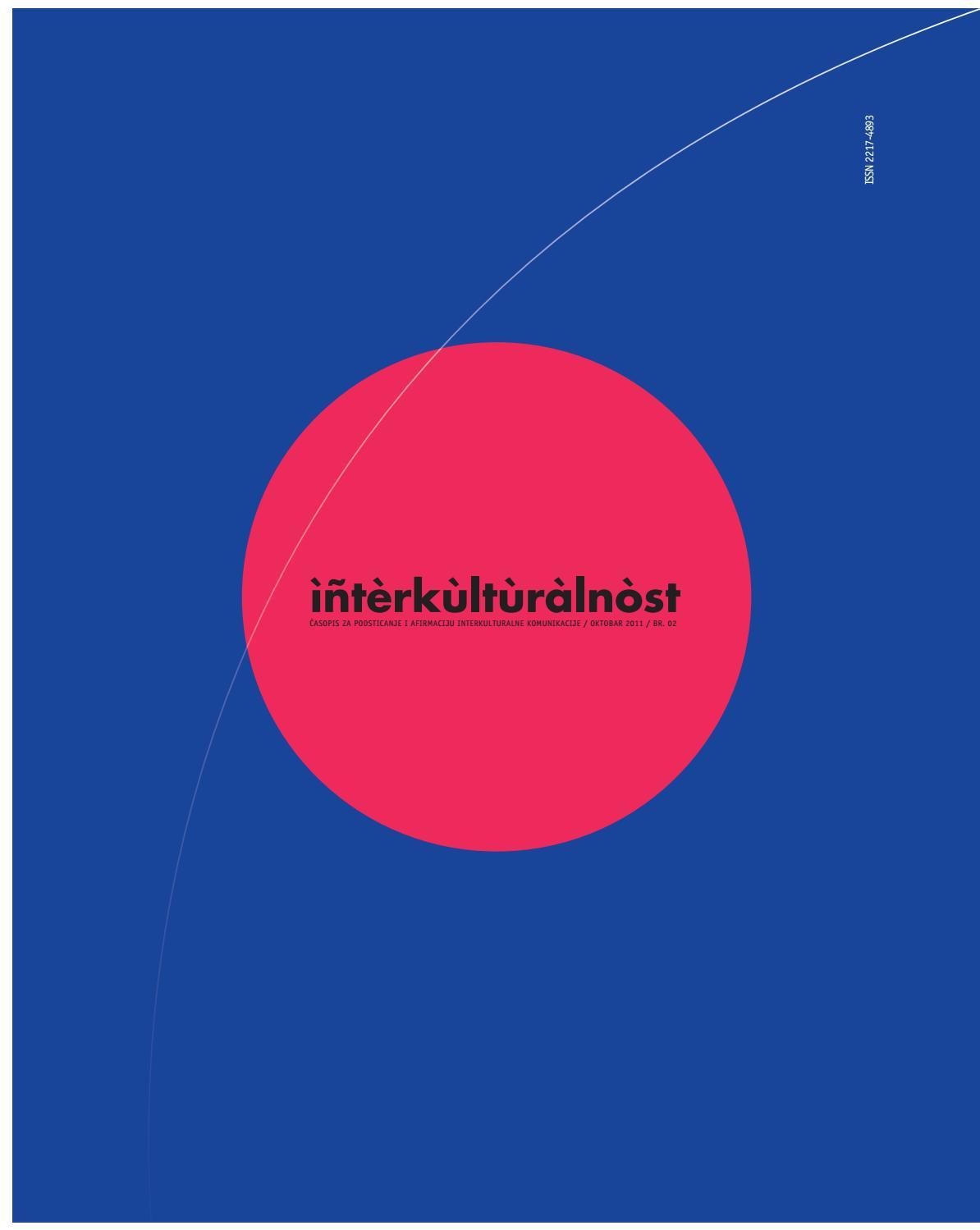 Interkulturalnost Br 2 By Zavod Za Kulturu Vojvodine Issuu