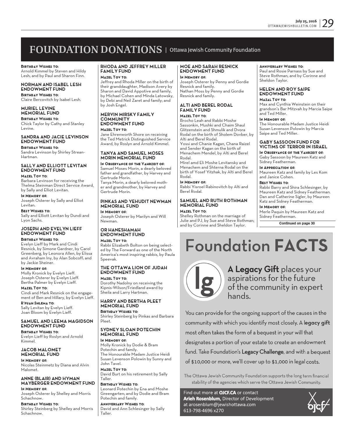 Ottawa Jewish Bulletin 2016 07 25 By The