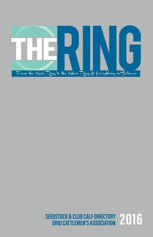 ac3c09132d20aa THE RING 2016 by Ohio Cattlemen s Association - issuu