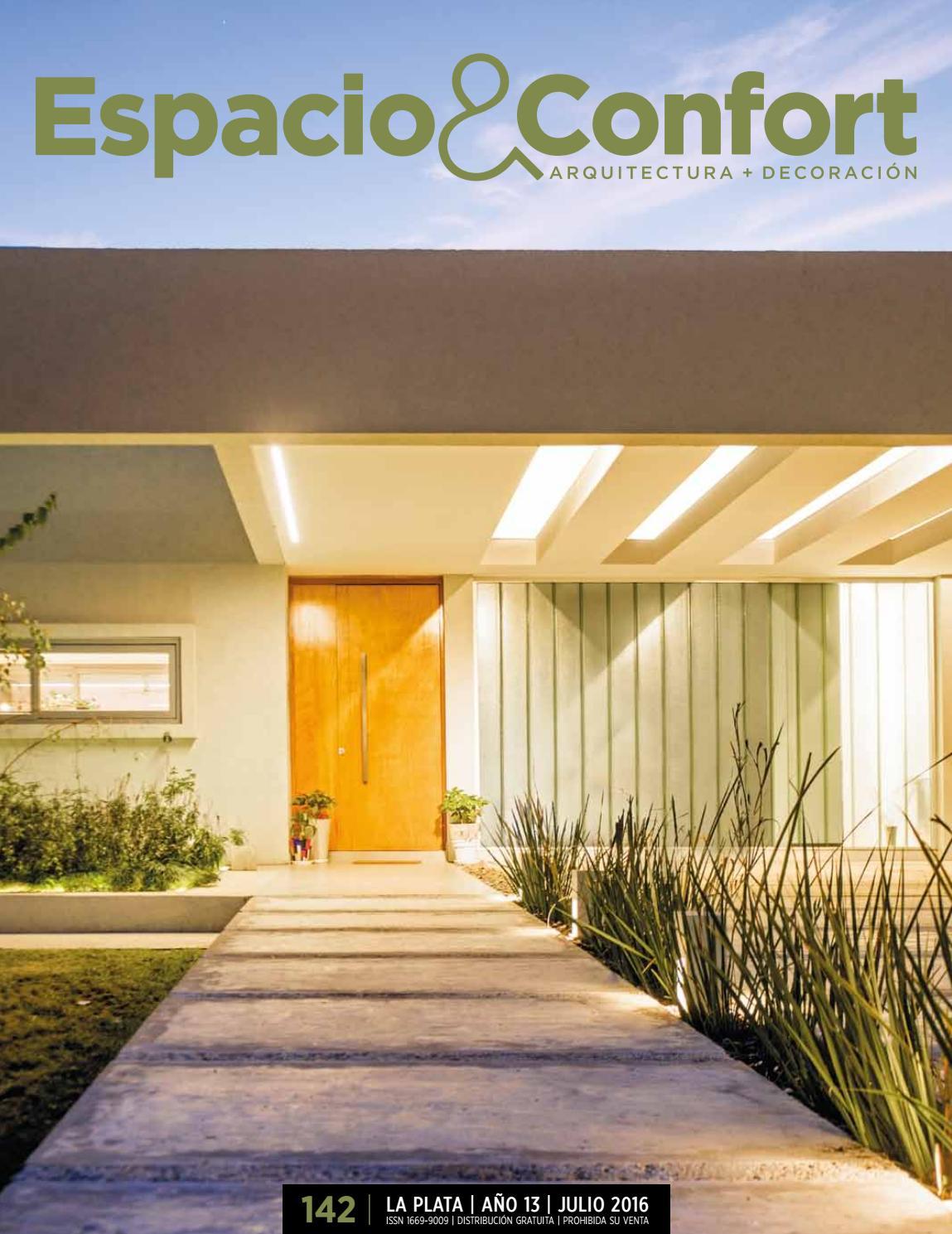 142 la plata julio 16 by revista espacio confort for Estudios de arquitectura la plata