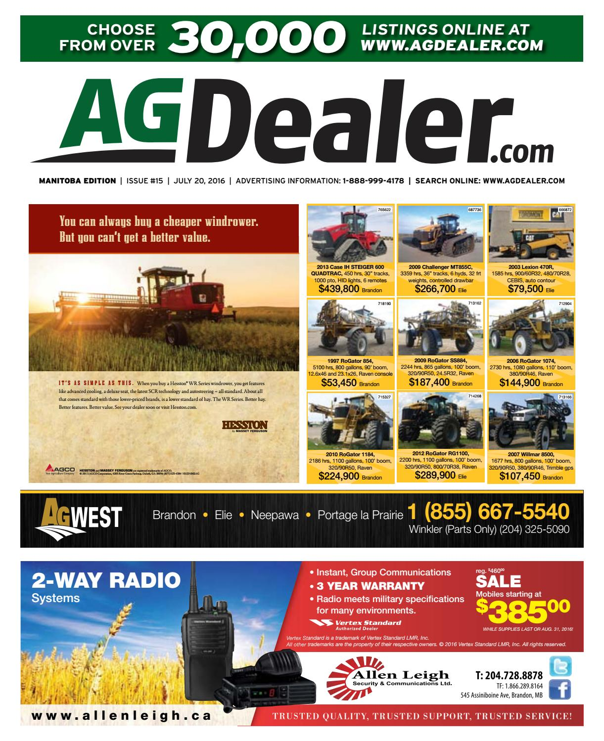 Wheel & Deal Manitoba, July 20, 2016 by Farm Business Communications -  issuu