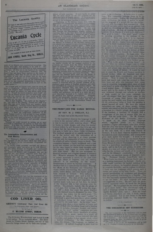 An Claidheamh Soluis Iºil Nollaig 1911 by Conradh na