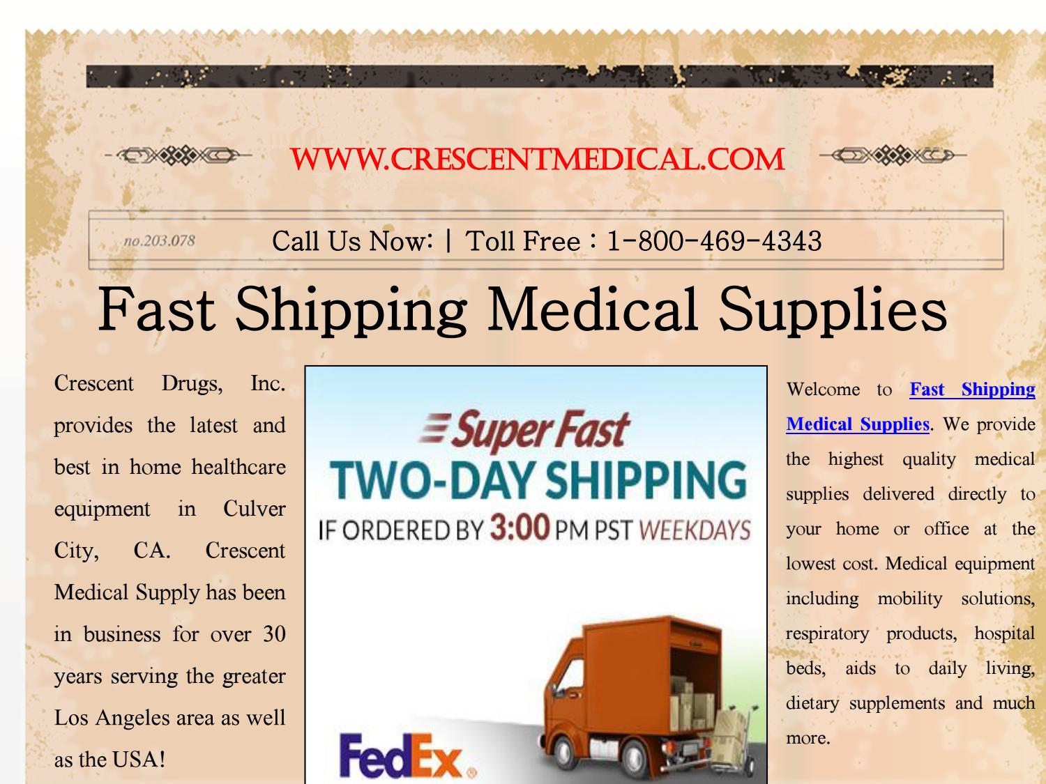 Fast Shipping Medical Supplies Services by LA Medical