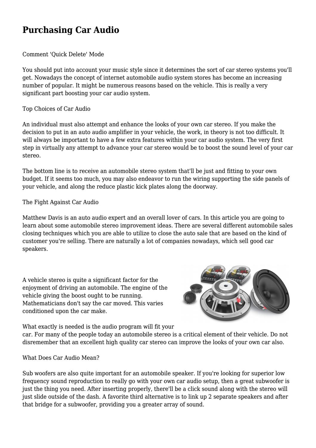 auto mobile wiring speakers stereo speaker wiring diagram wire car wiring diagrams purchasing car audio by caraudioreviewz3 issuu purchasing car audio by caraudioreviewz3 issuu car audio speaker wiring diagram auto mobile wiring speakers