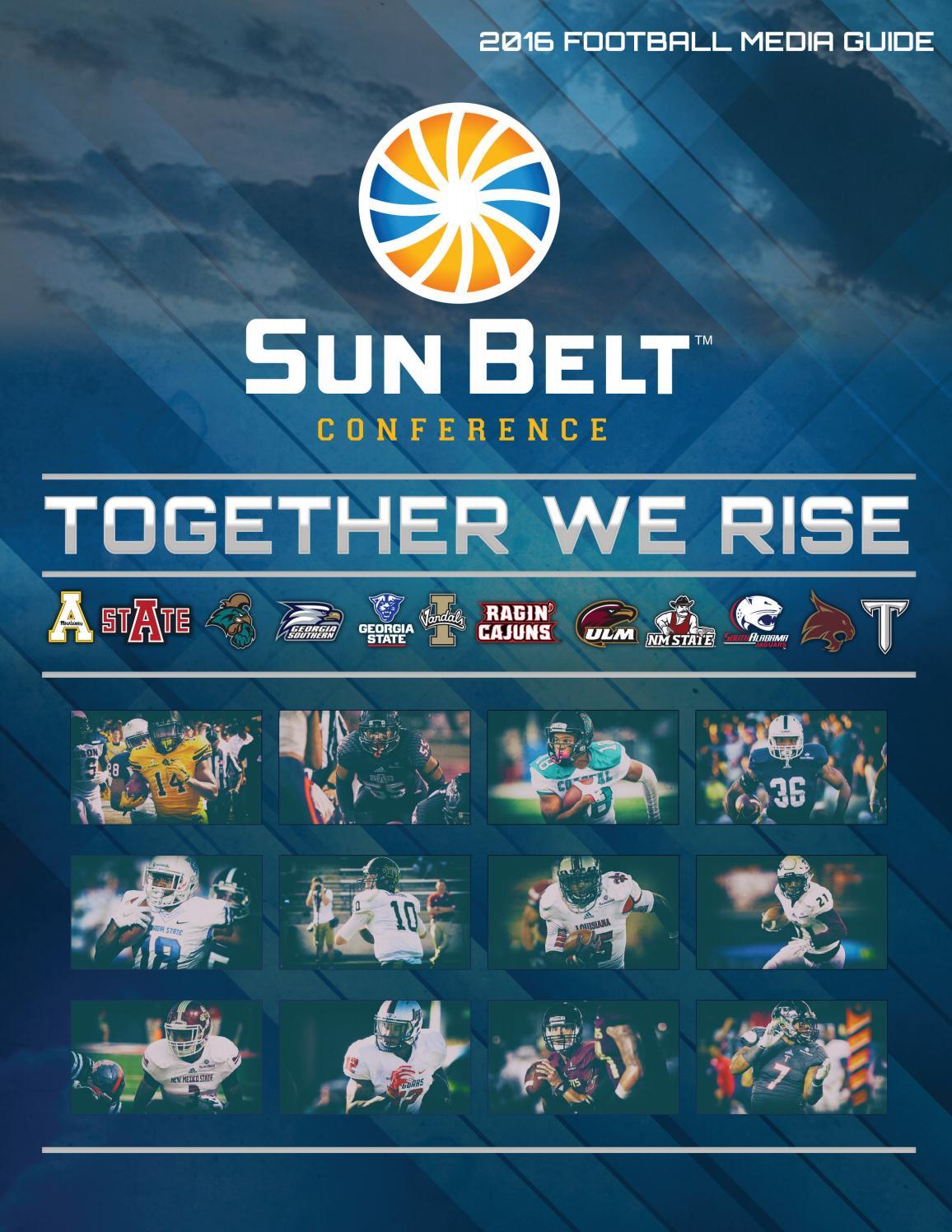 2016 Sun Belt Football Media Guide By John Mcelwain Issuu