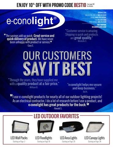 e-conolight CREE LED Compact Flood Neutral White 4000K Dark Bronze E-CF3L03N2Z