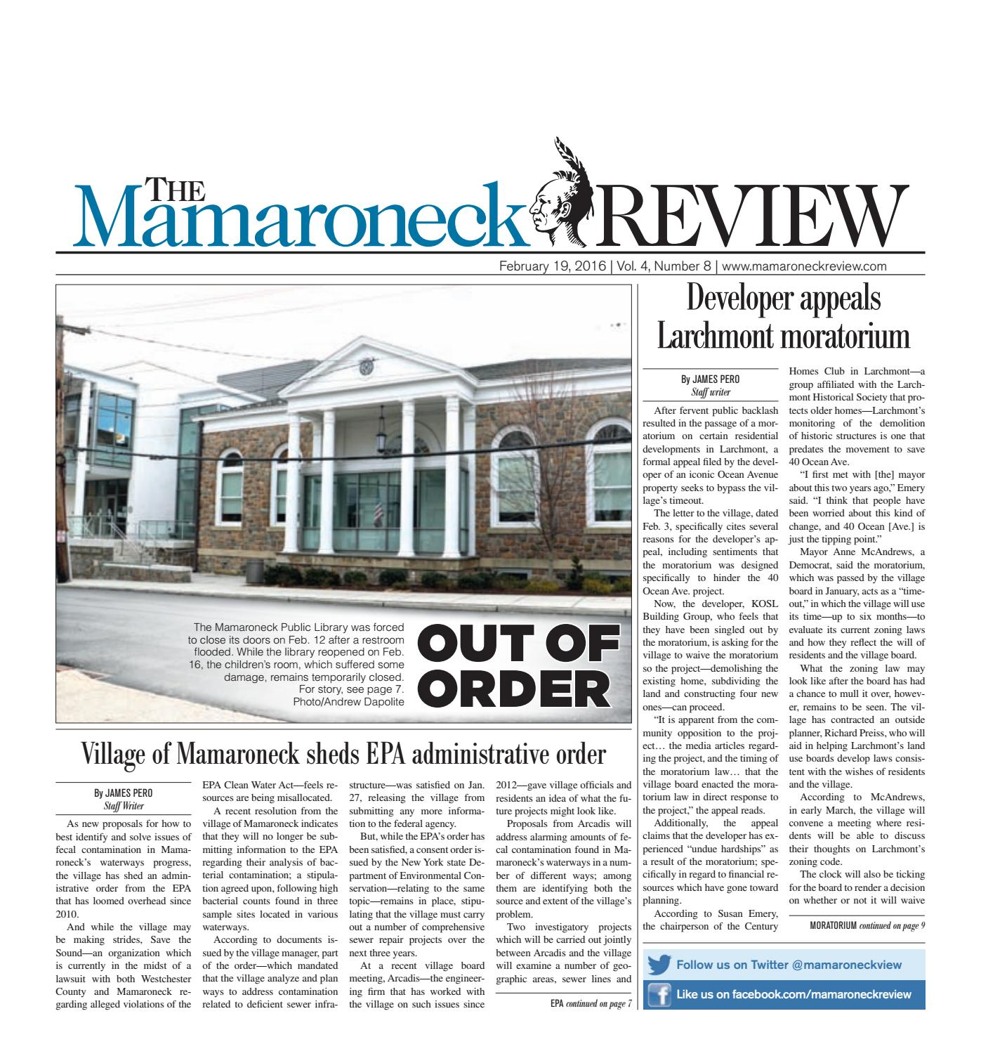 February 19, 2016 by The Mamaroneck Review - issuu
