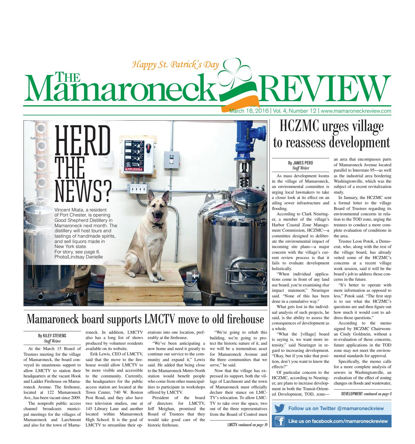 March 18, 2016 by The Mamaroneck Review - issuu