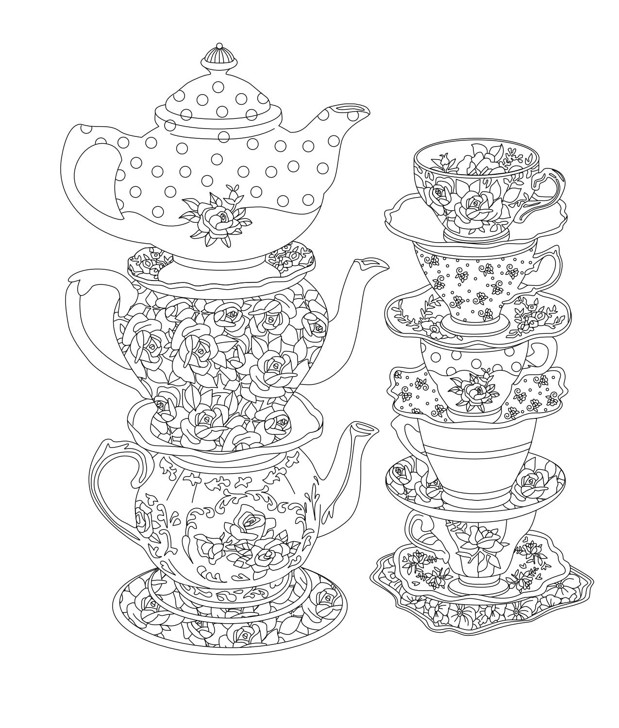 Elegant Tea Party Coloring Book by Kent Sorsky - issuu