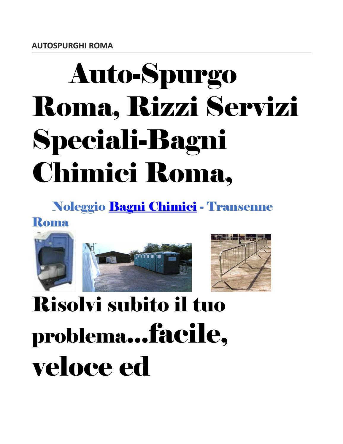 Autospurghi roma by autospurgo roma issuu - Noleggio bagni chimici roma ...