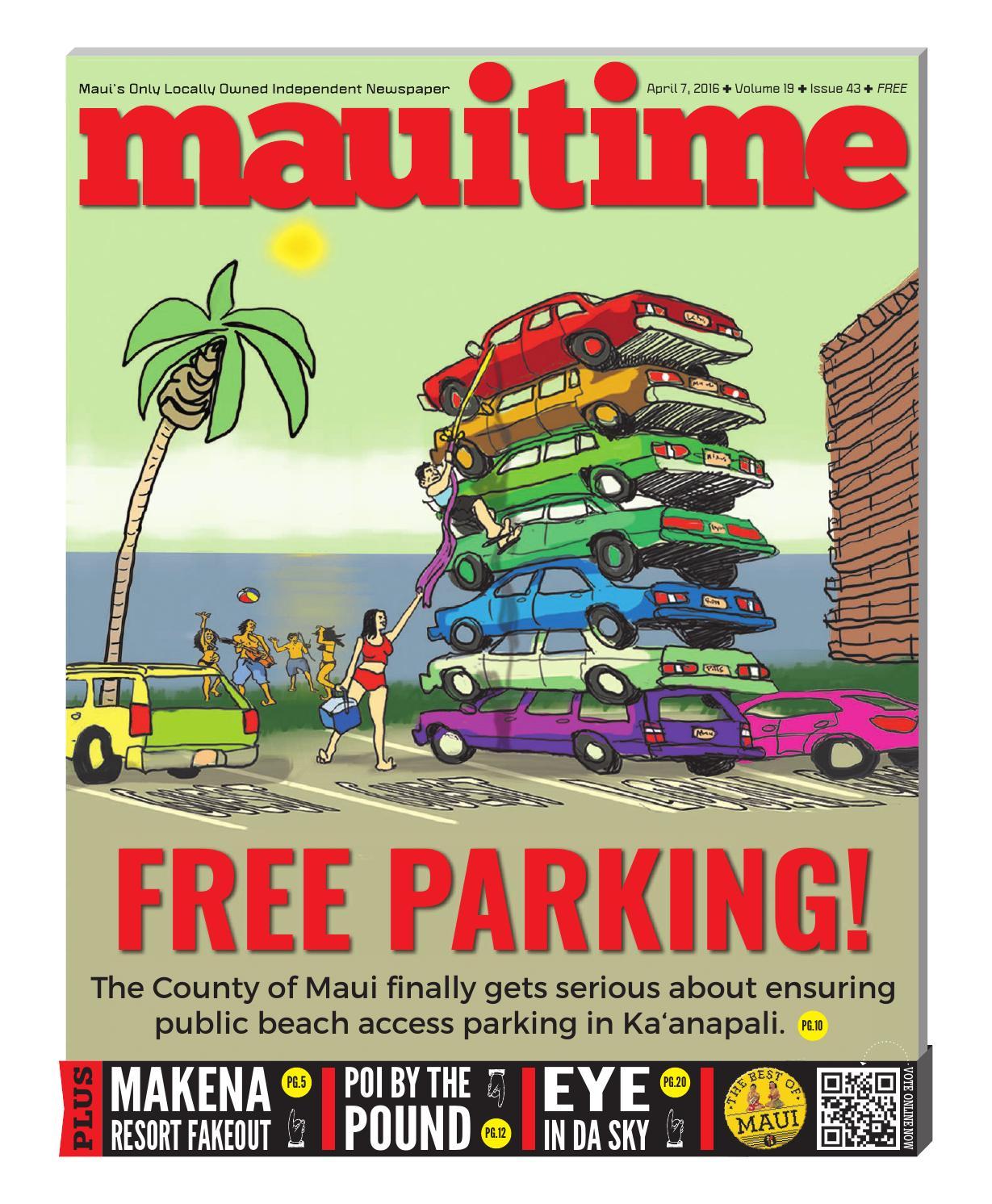 19 43 Free Parking - Maui County Public Beach Access, April