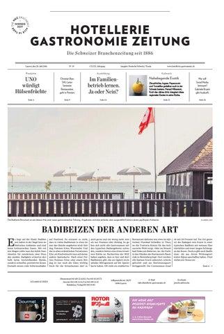 HG-Zeitung 19/2016 by Hotellerie_Gastronomie_Verlag - issuu
