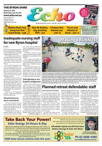 Byron Shire Echo Issue 3106 20072016 By Echo Publications Issuu