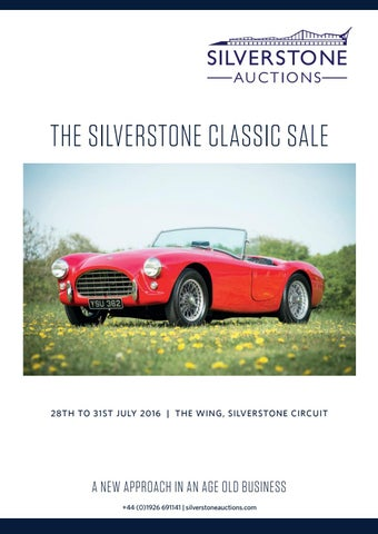 d367fafdba14 The Silverstone Classic Sale 28th to 31st July 2016 by Silverstone ...