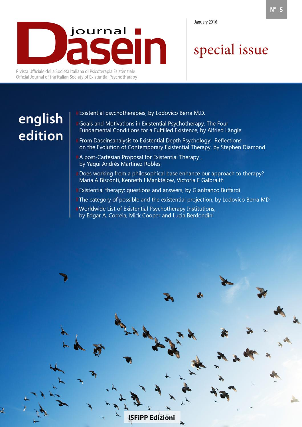Dasein Journal N°5 by ISFiPP Filosofia Psicologia Psichiatria - issuu