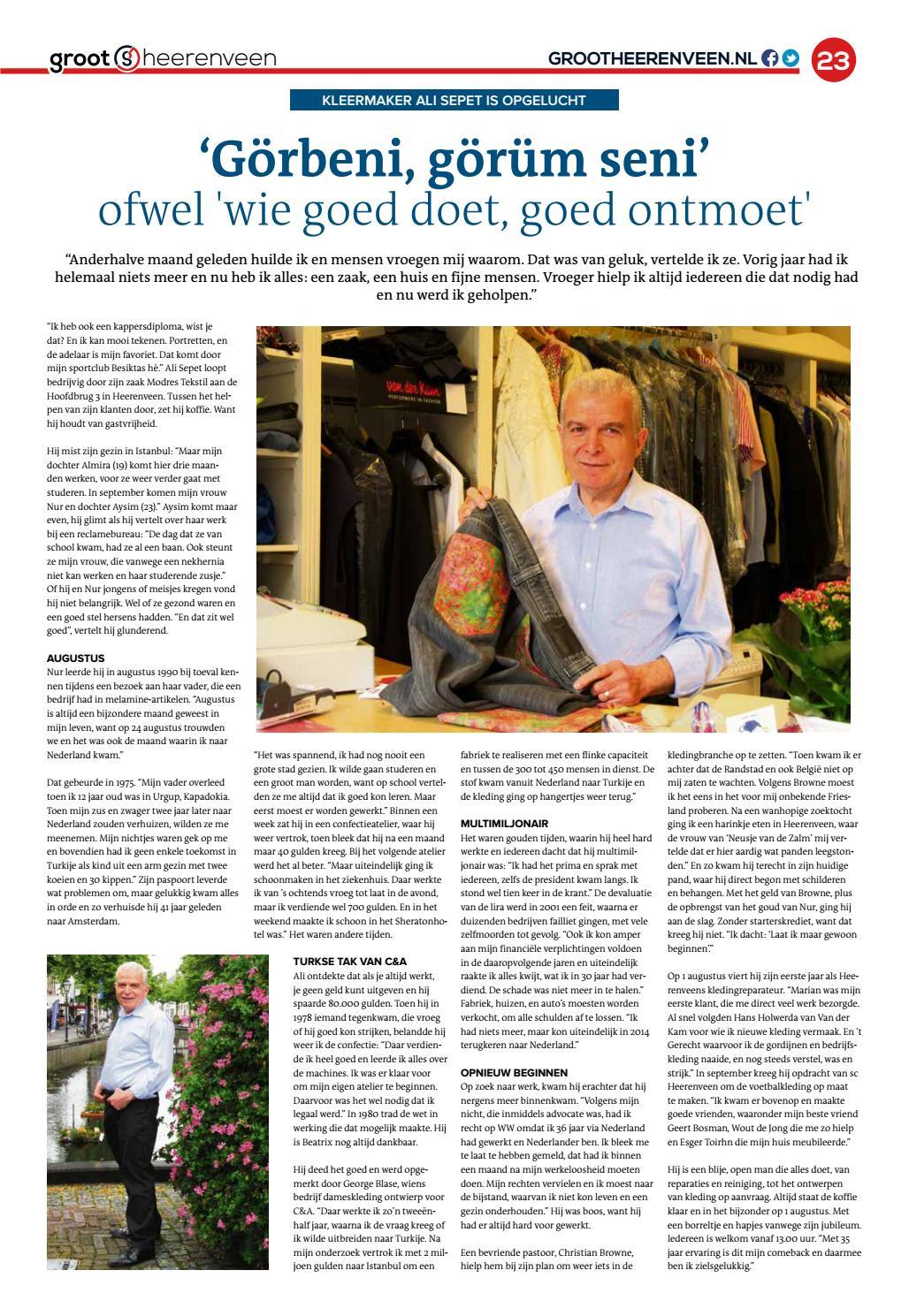 0f71fee684f033 Grootheerenveen 7 - 2016 by GrootHeerenveen - issuu