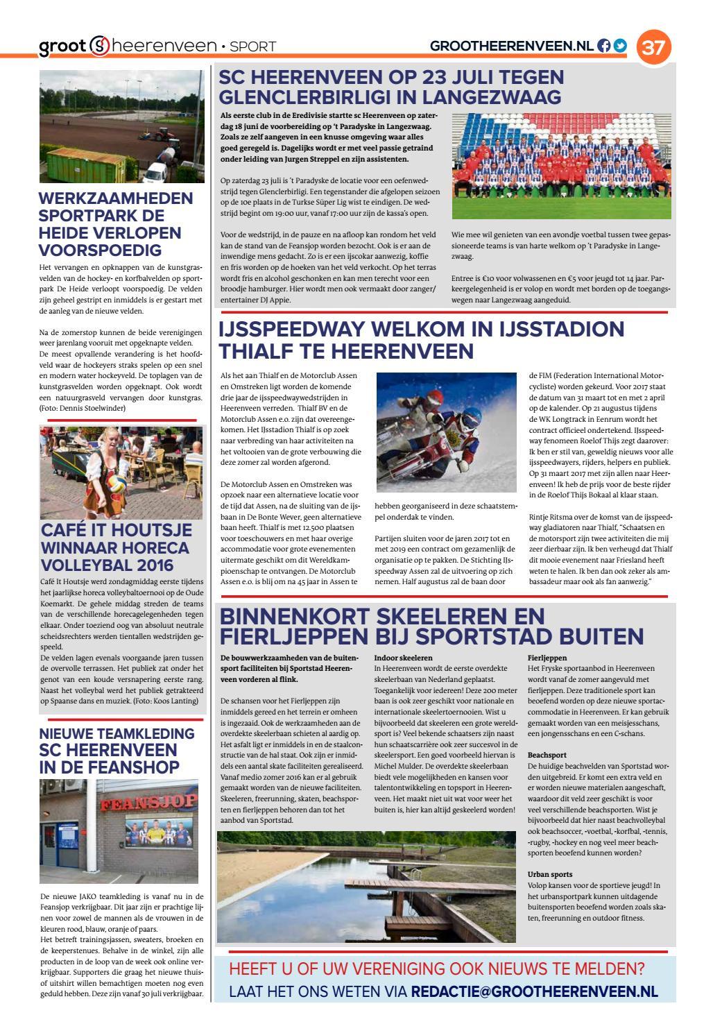 af167ba4ab9 Grootheerenveen 7 - 2016 by GrootHeerenveen - issuu