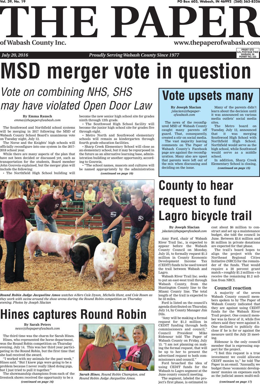 Indiana wabash county lagro - The Paper Of Wabash County July 20 2016 Issue By The Paper Of Wabash County Issuu