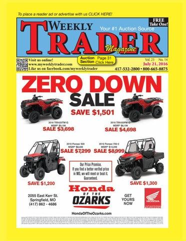 Weekly Trader July 21, 2016 By Weekly Trader   Issuu
