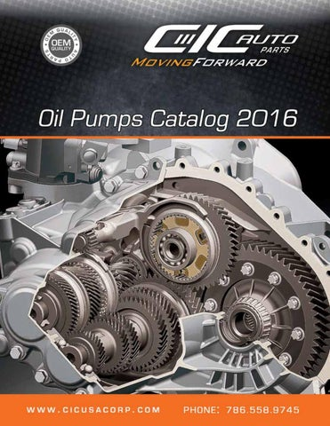 Oil Pumps Catalog 2016 By Cic Usa Corp Issuu