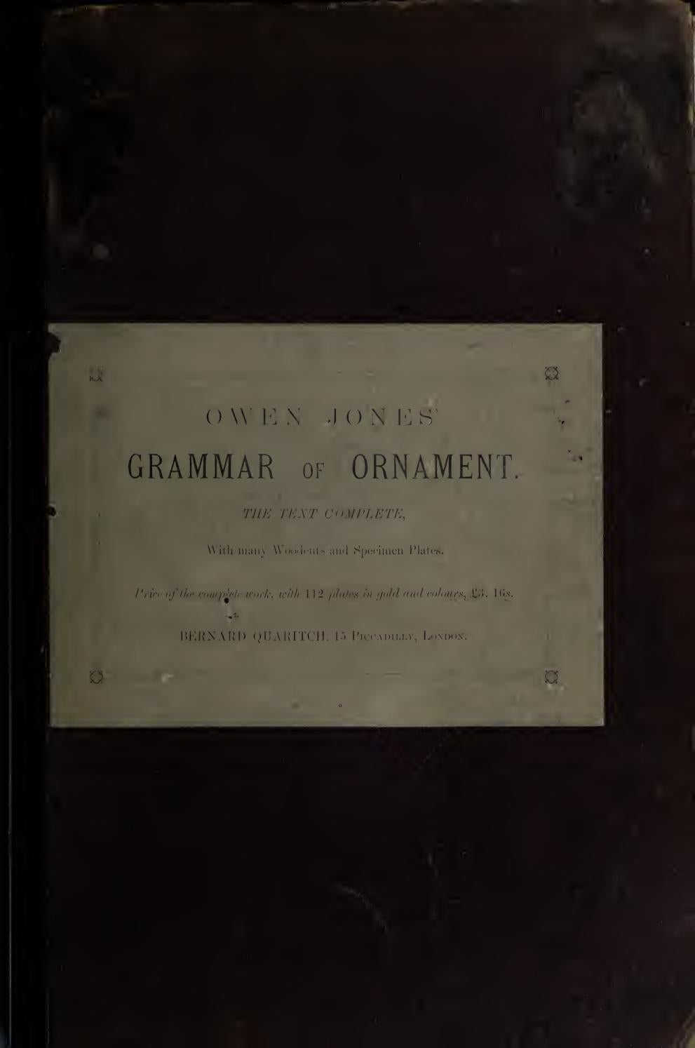 The Grammar Of Ornament By Owen Jones 1856 By Seishonagon Issuu