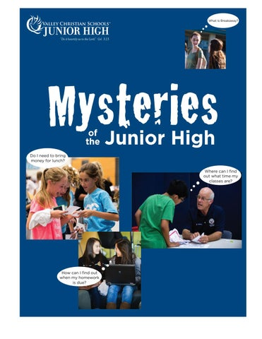Mysteries of the valley christian junior high by valley christian page 1 fandeluxe Image collections