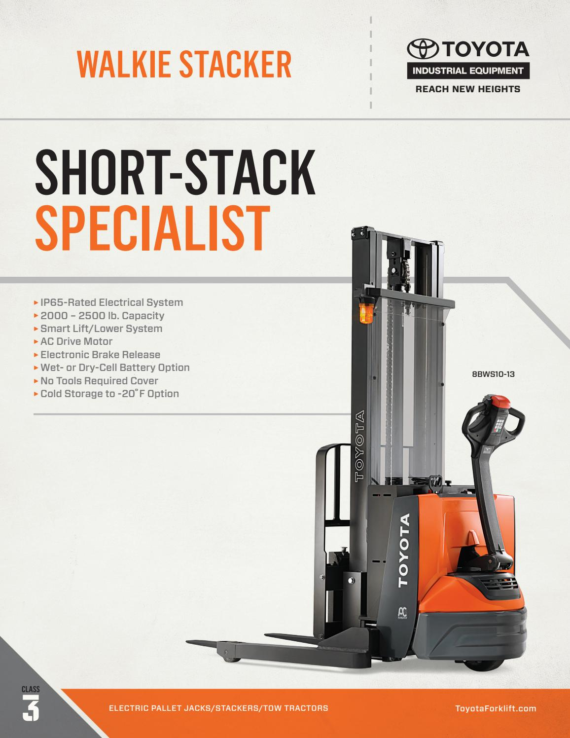 Toyota Forklift Walkie Stacker Product Brochure By Toyota