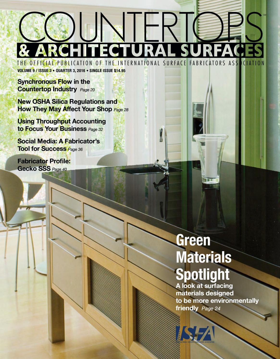 ISFA's Countertops & Architectural Surfaces Vol  9, Issue 3