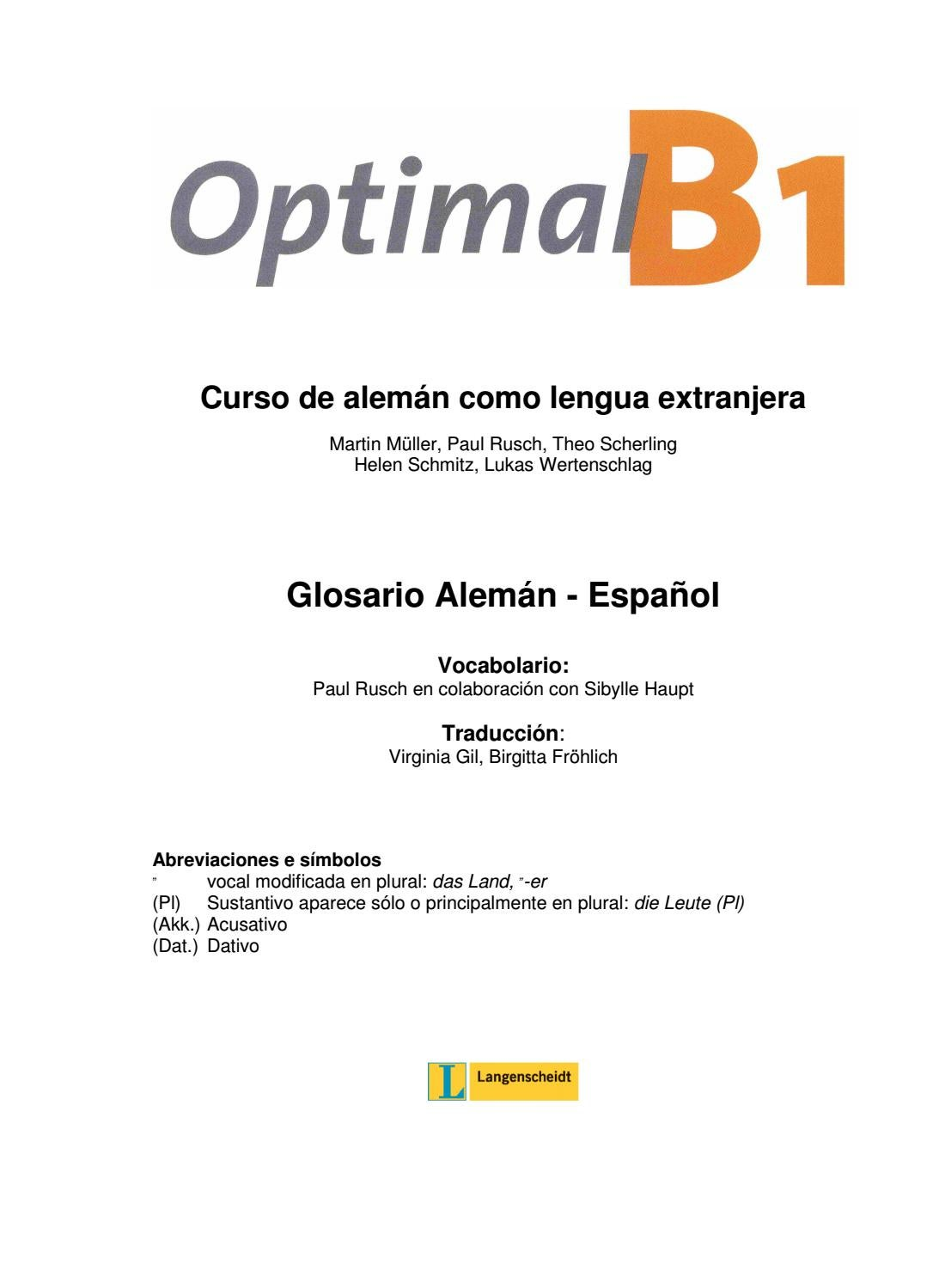 Arbeitsblatt Zu Aspekte 1 Kapitel 7 : Optimal b spanisch by manel pac issuu