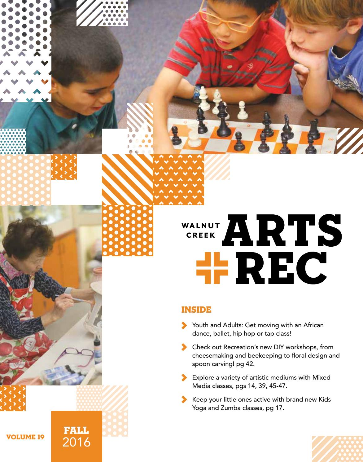 city of walnut creek guide to arts + rec - fall 2016city of
