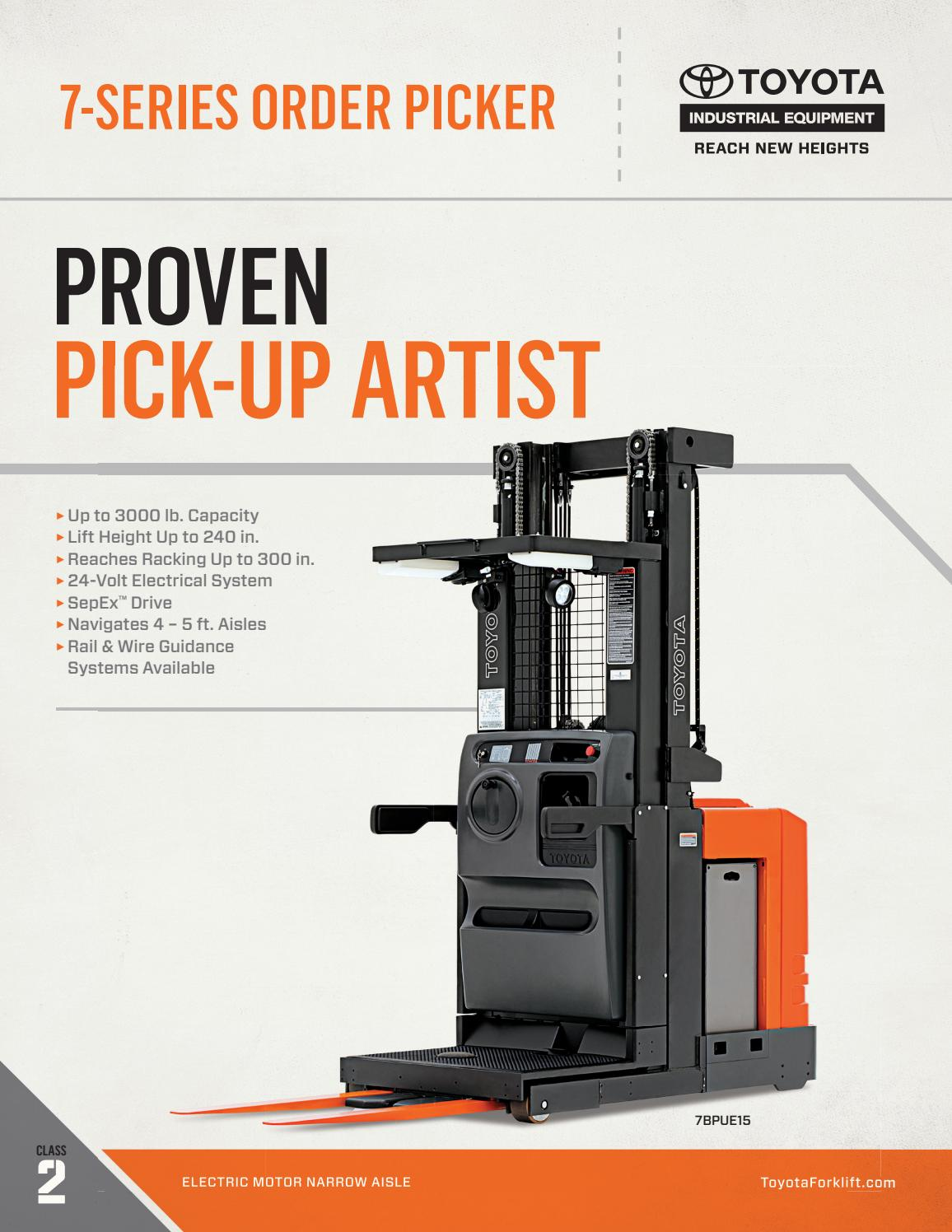 Toyota Forklift 7-Series Order Picker Product Brochure by Toyota ...