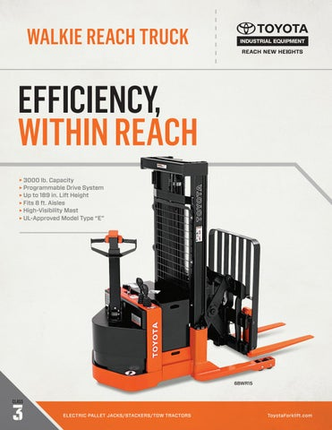 Toyota Forklift Walkie Reach Truck Product Brochure By