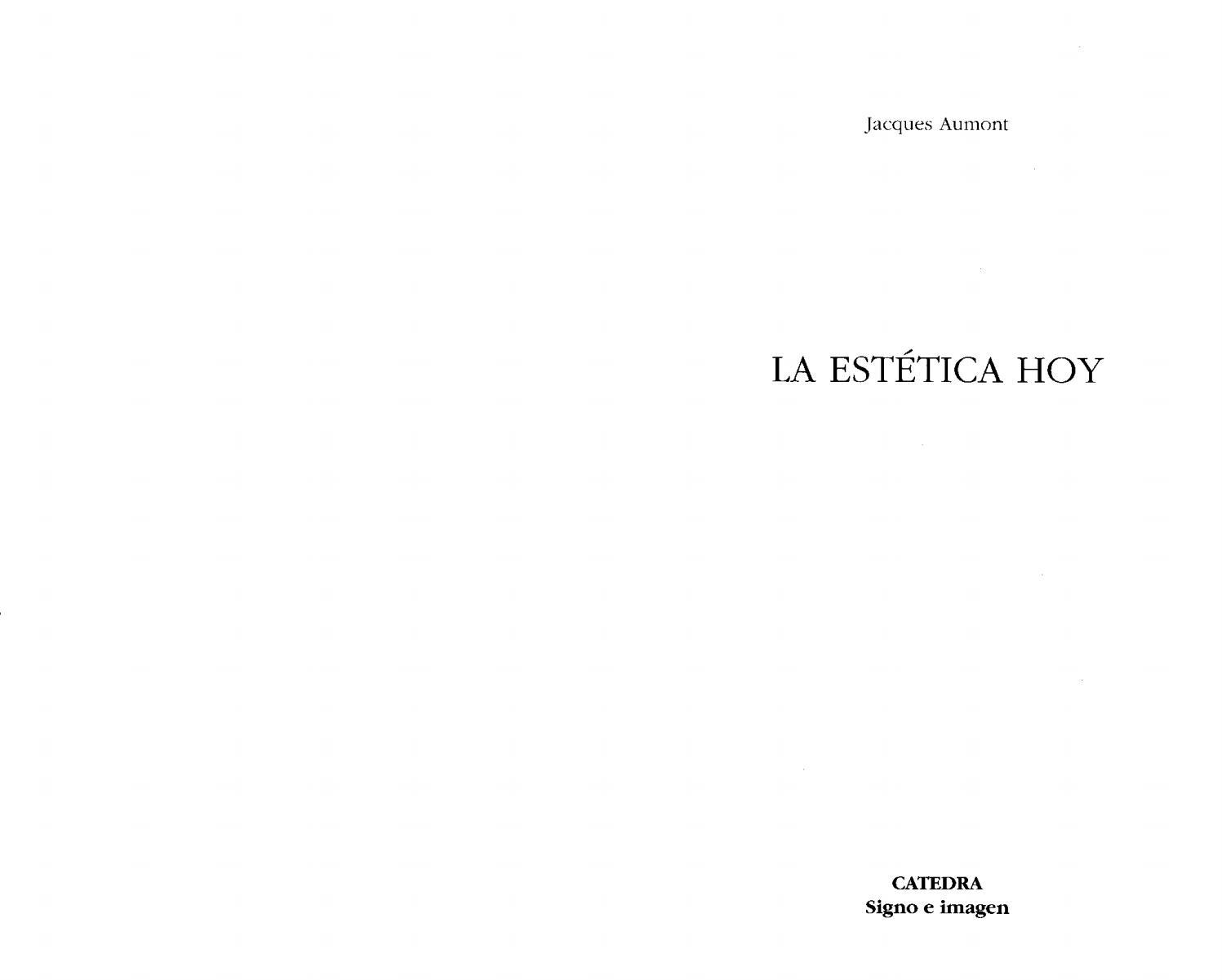 Jacques aumont la estetica hoy by Master LAV - issuu e2746225bc0e