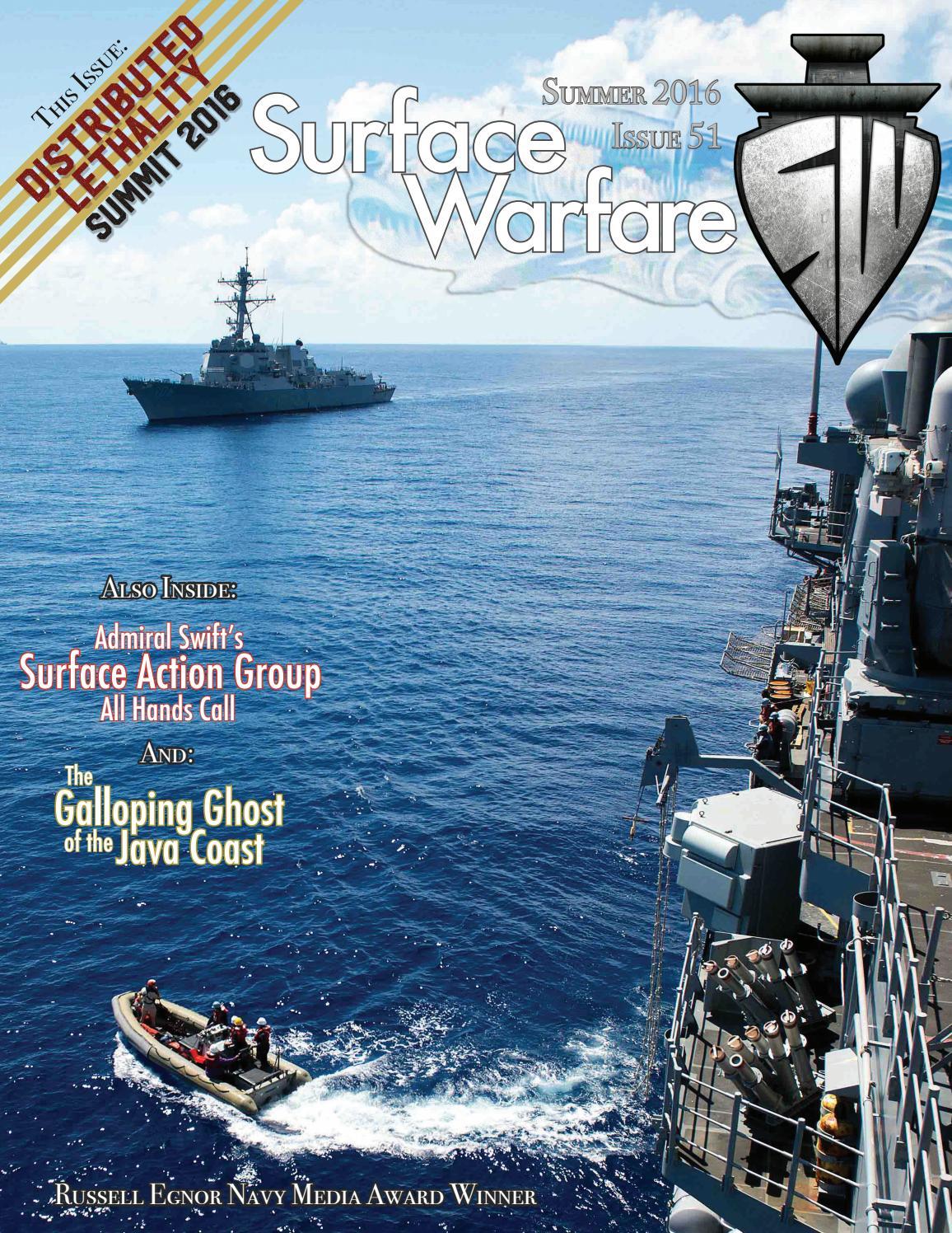 Surface Warfare Magazine - Summer 2016 by Surface Warfare ...