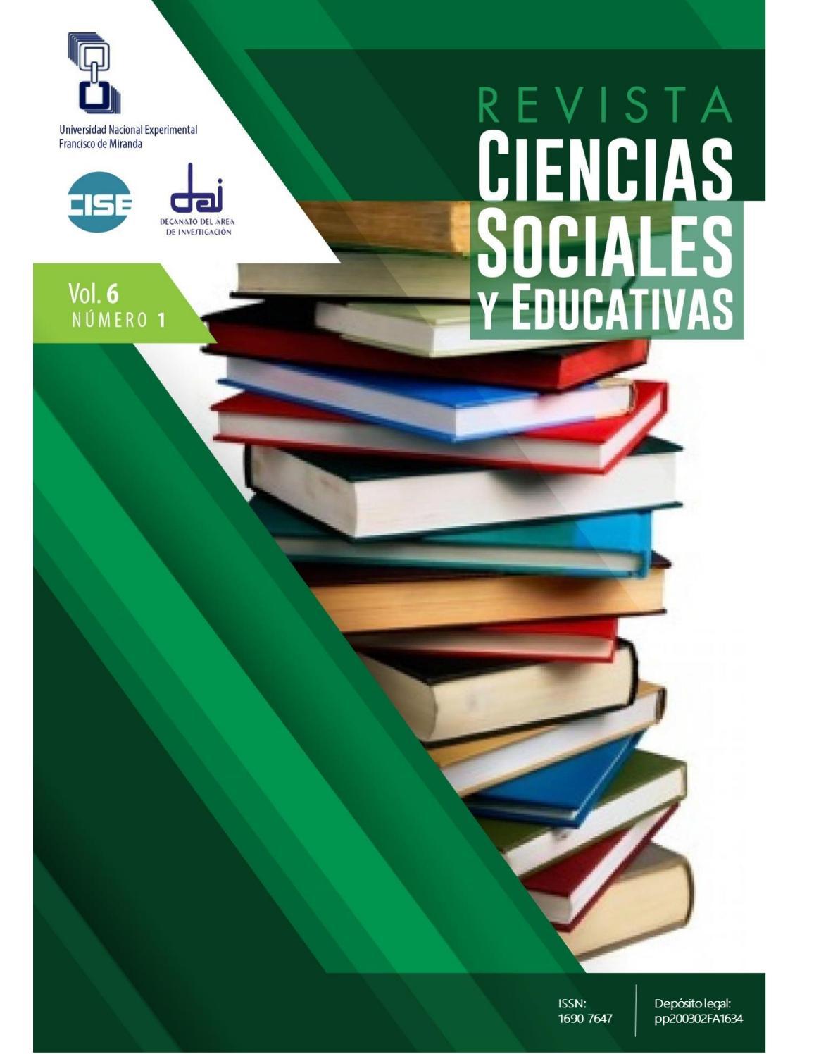 RCSE Vol. VI, Nro. 1 by Revista Ciencias Sociales y Educativas - issuu