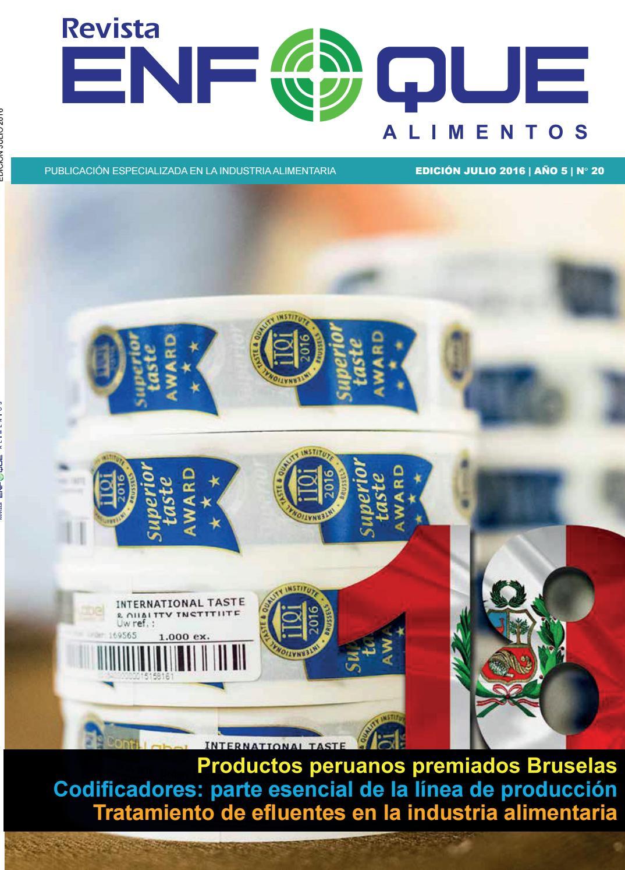 ENFOQUE ALIMENTOS Nº 20 - Julio 2016 by Revista Enfoque Alimentos ...