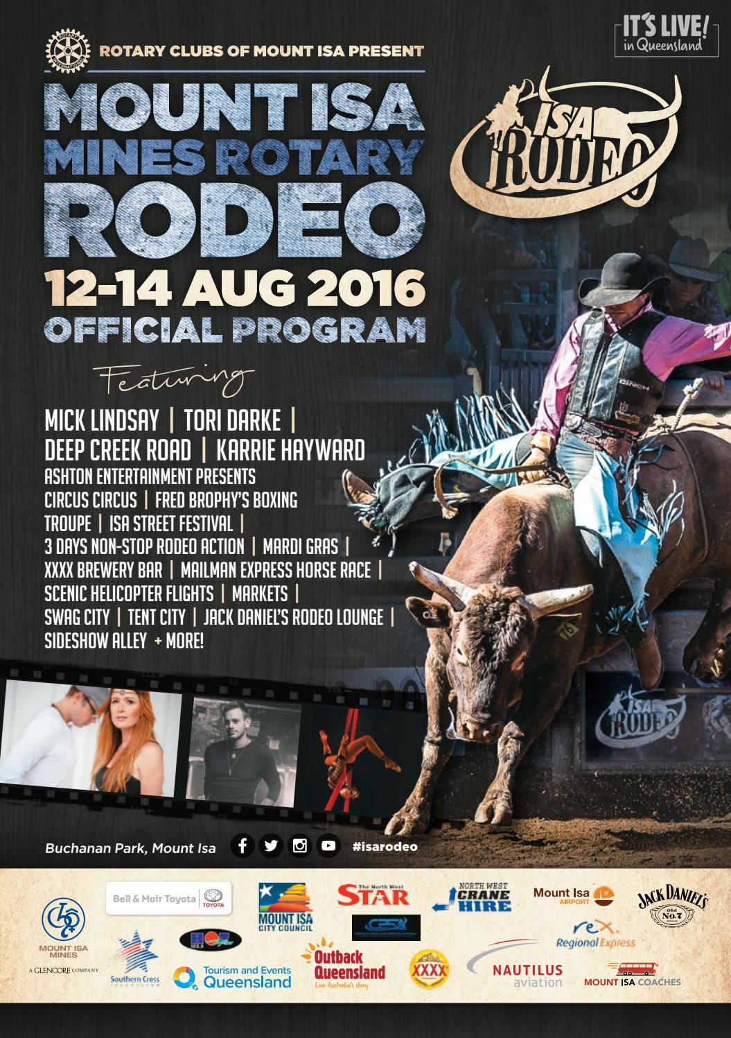 Mount Isa Rodeo 2016 Program By Vink Publishing Issuu