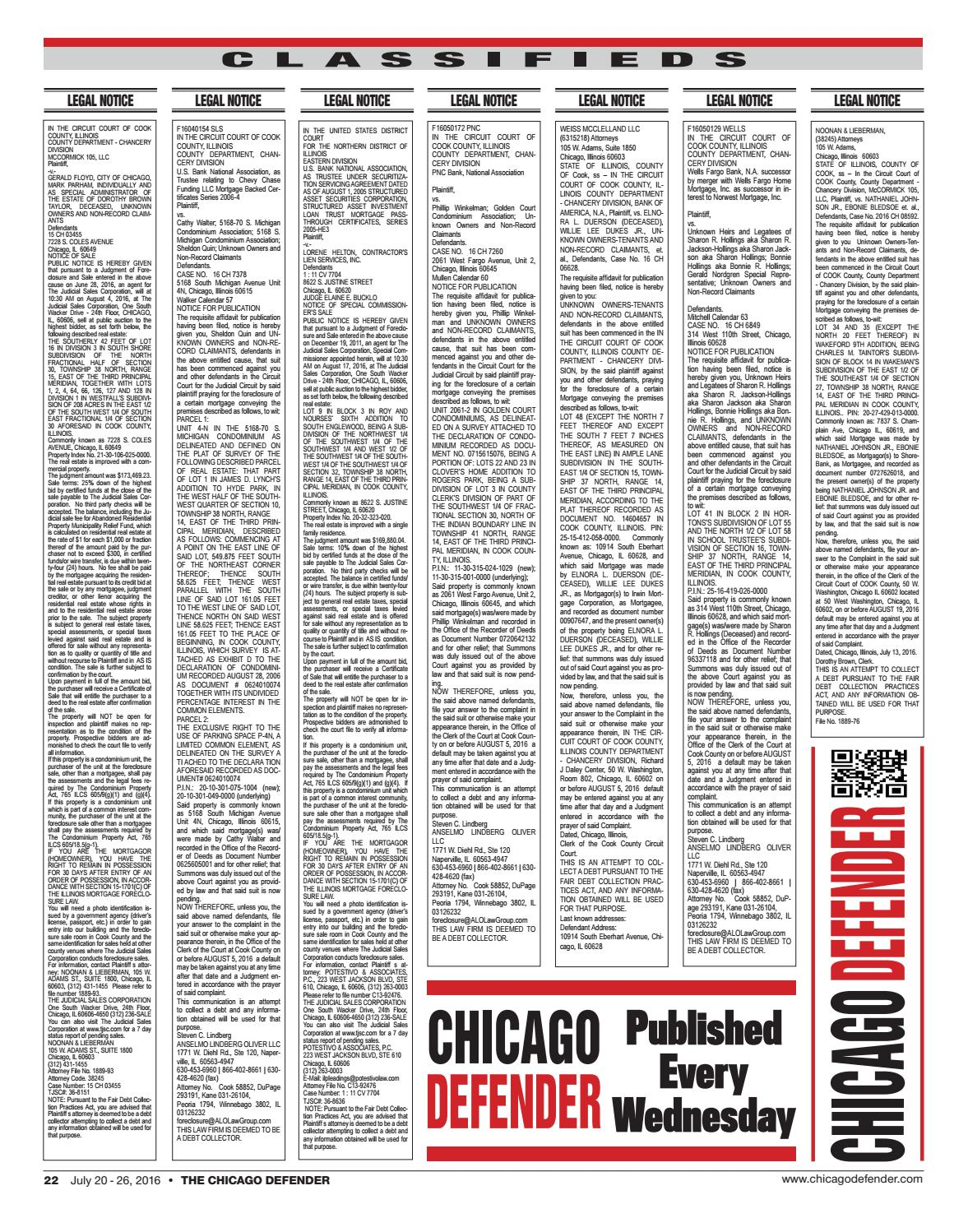 Chicago defender 07 20 16 by ChiDefender - issuu