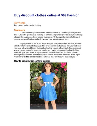 Buy Discount Clothes Online At 599 Fashion By Laura Moore Issuu